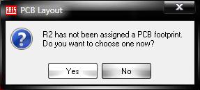Диалоговое окно PCB Layout
