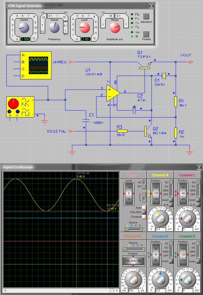 Генерация синусоидальных сигналов при помощи сигнал генератора и их отображение на дисплее осциллографа