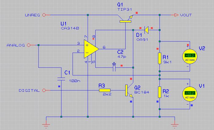 Подключение двух вольтметров к схеме