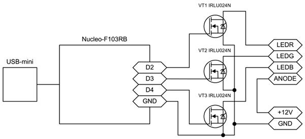 На рисунке 1 изображена схема