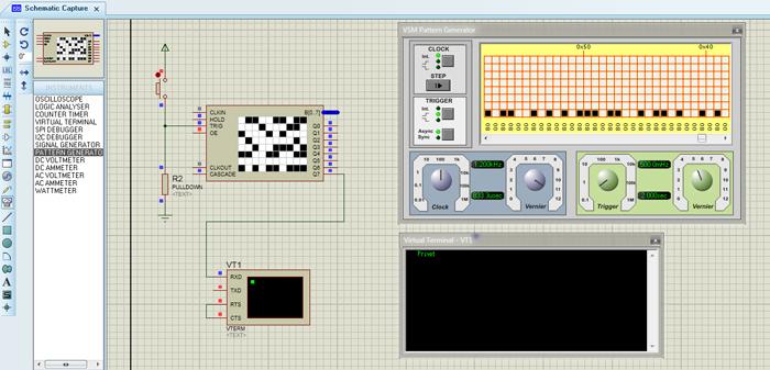 Вывод шаблона на экран виртуального терминала