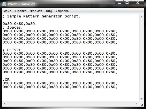 Кодирование символов в файле шаблона