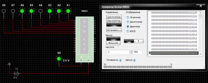 Лицевая панель генератора слов и его пиктограмма на схеме