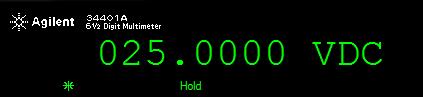 Световые сигнализаторы замера (*) и режима удерживания показания (Hold)