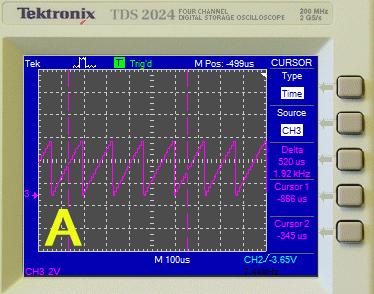 измерение времени при помощи вертикальных курсоров