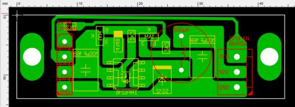Рис. 7 Печатная плата схемы управления BLDC-вентилятором без входа ШИМ