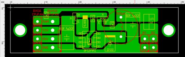 Рис. 8 Печатная плата схемы управления BLDC-вентиляторами «ведущий-ведомый»