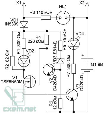 Схема пробника аркашки
