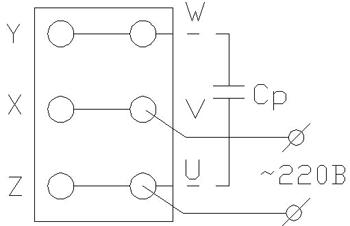 Трехфазный асинхронный двигатель в однофазном режиме
