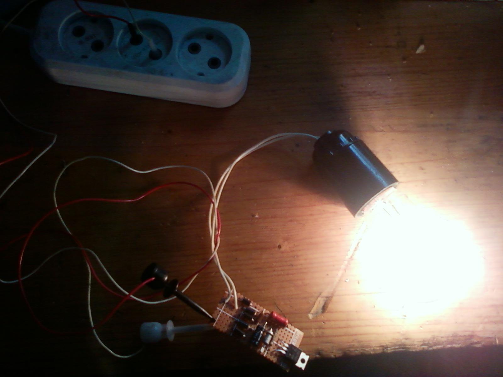 схема плавного пуска галогеновых ламп от сети