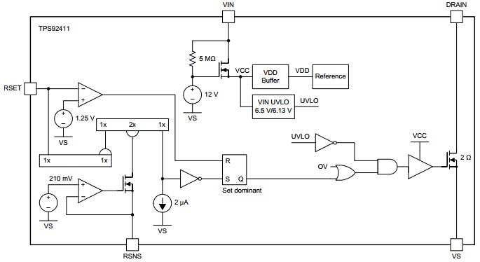 Структурная схема TPS92411