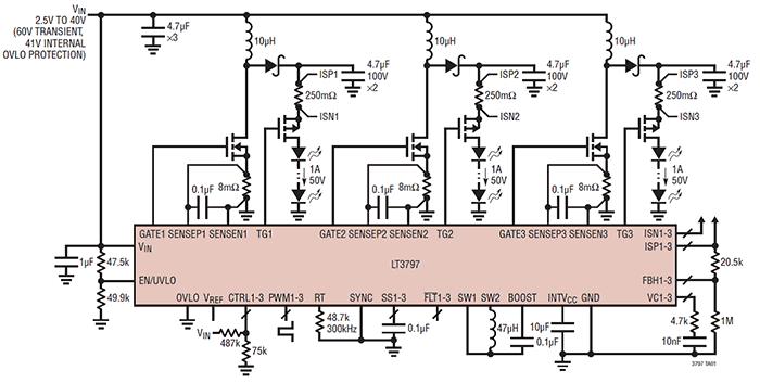 Схема подключения LT3797