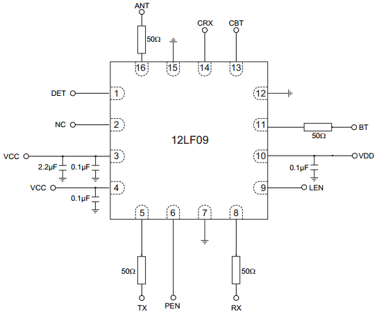 Схема включения SST12LF09