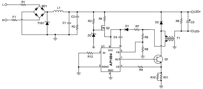 Схема подключения AP1694