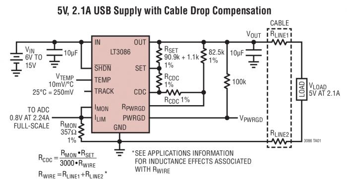 Схема подключения LT3086