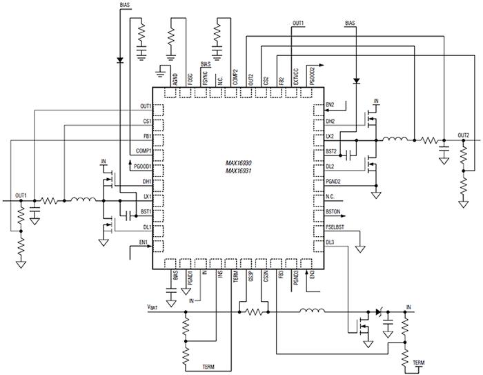 Схема включения MAX16930/MAX16931