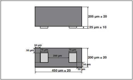 Размеры ESDAVLC6-1BV2