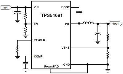 Типовая схема включения TPS54061