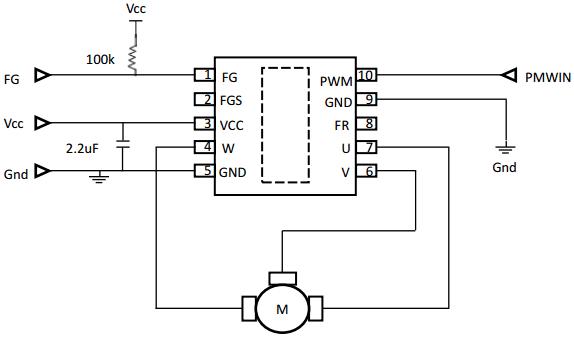 Схема подключения DRV10963