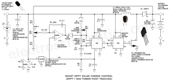 Схема зарядного устройства для солнечной батареи