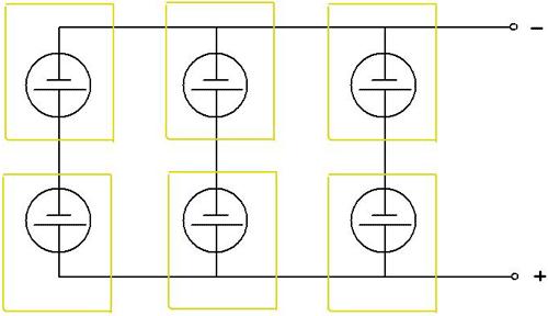 Схема соединения солнечных