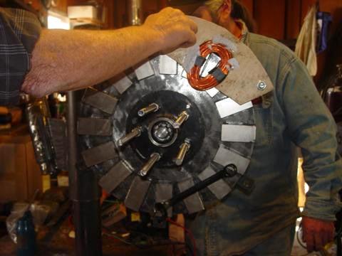 Катушка на роторе