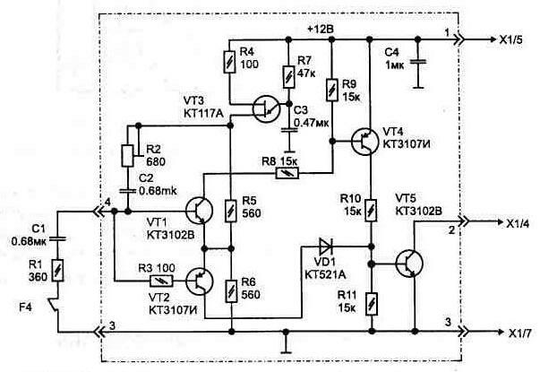 Монтажная схема соединения 2-х клавишного выключателя