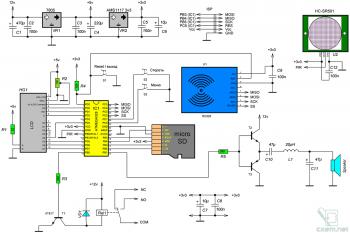 Схема RFID терминала доступа