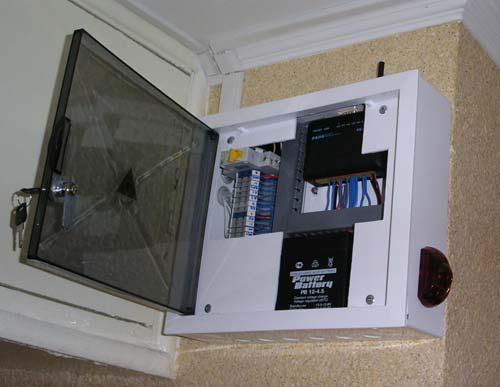 Шкаф с контроллером и оповещателем