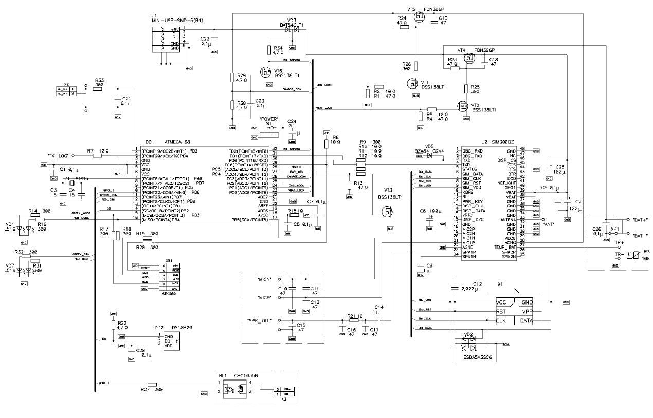 Схемы управления sim900