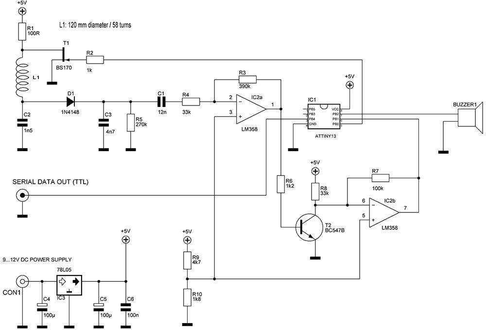Схема считывателя RFID
