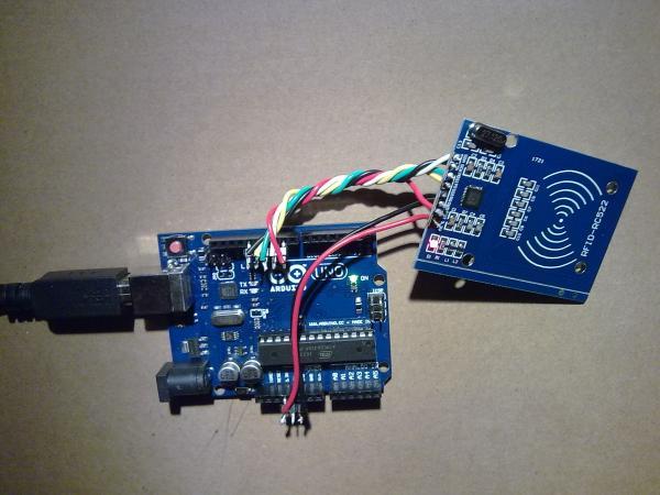 Соединение модуля RC522 с отладочной платой Arduino UNO