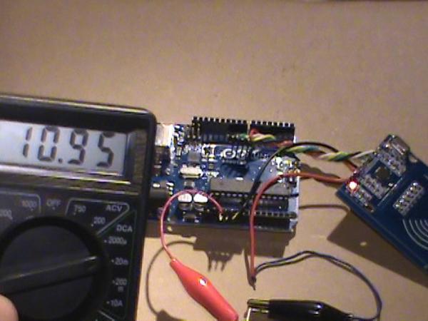 Ток потребления модуля считывателя RC522 в ждущем режиме