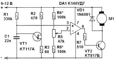 ШИМ-регулятор оборотов электродвигателей коллекторного типа.