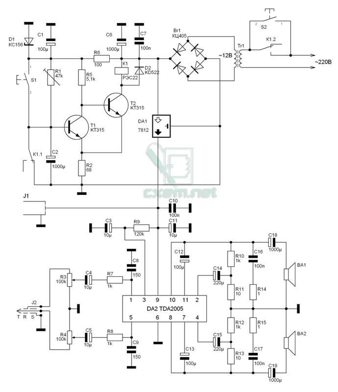 электрическая схема дверного