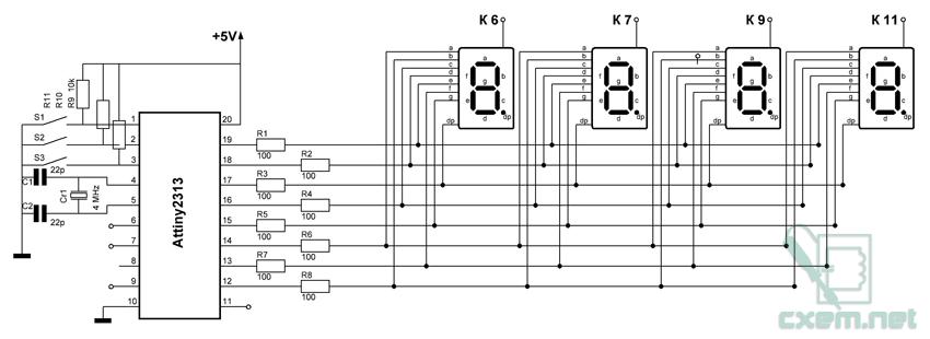 Схема простых электронных