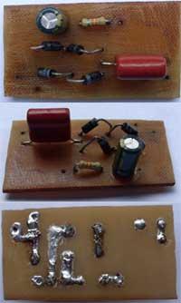 Схема питания работает следующим образом: Напряжение 220В подается через вилку на гасящий конденсатор С1 и...