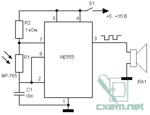 генератор на 555 таймере - Всемирная схемотехника.