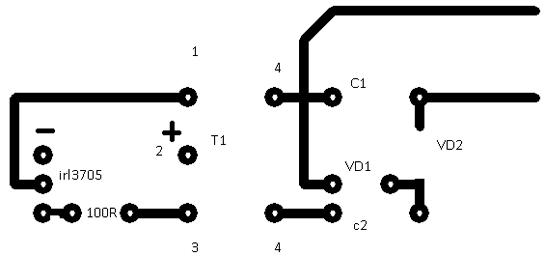 на одном транзисторе,