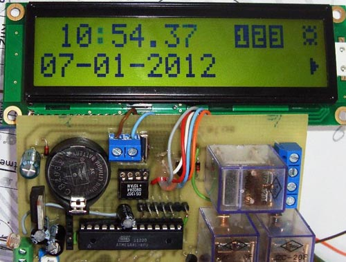 Arduino Adjustable Timer Controller With Relay