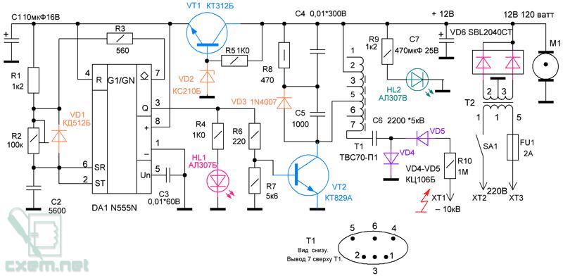 Схема ионизатора