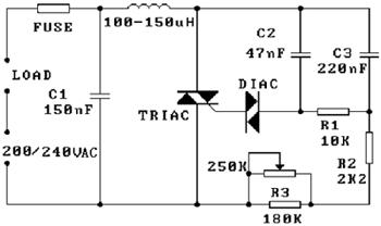 принципиальная схема диммера