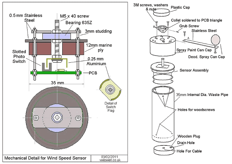 Конструкция датчика ветра