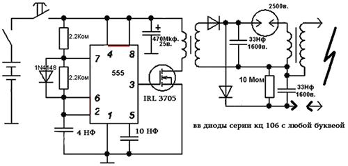 схемы мощных электроудочек