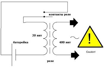 Схема шокера простого