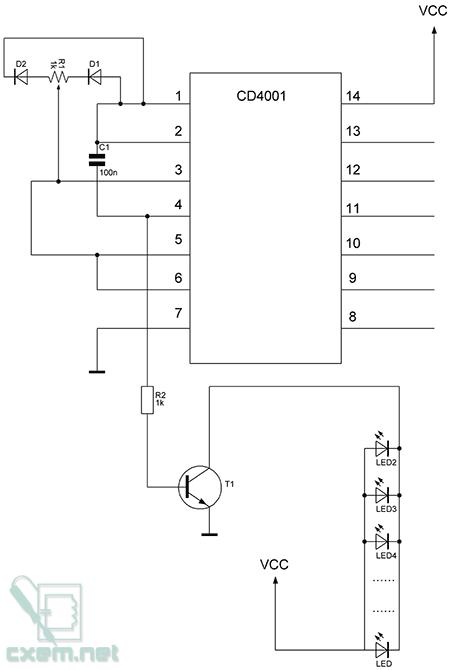 Схема ШИМ регулятора