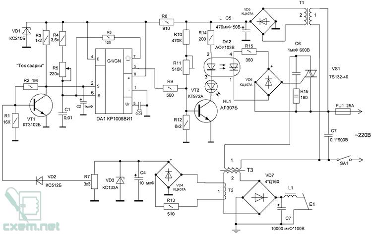 Схема устройства ограничения