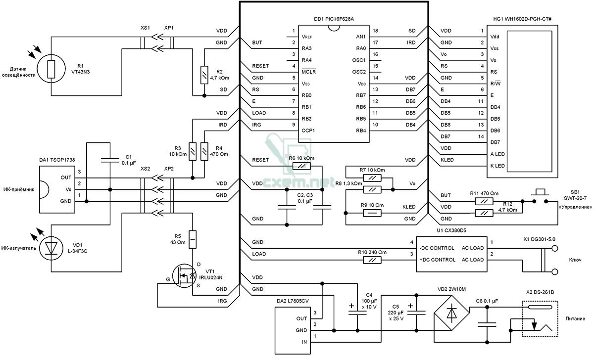 Рис 2 типовая схема управления touch dim как видно из рисунка один из в программе компонентов управления существуют...