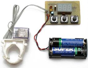 Электрическая схема велосипедного спидометра.