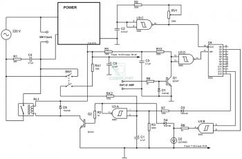 Схема устройства автоматического отключения аудио-аппаратуры от сети